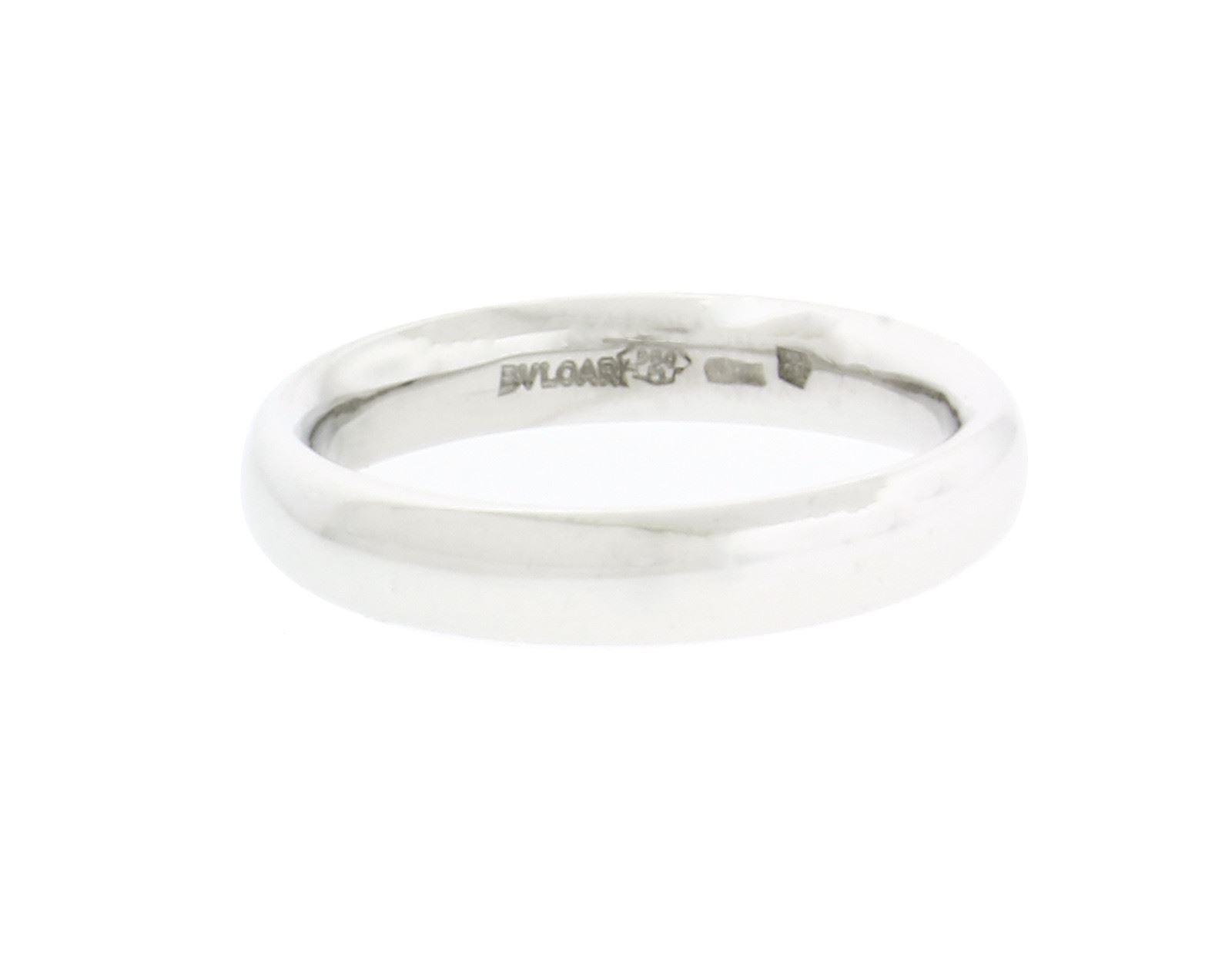 "Image of ""Bulgari 18K White Gold Band Ring Size 9.5"""