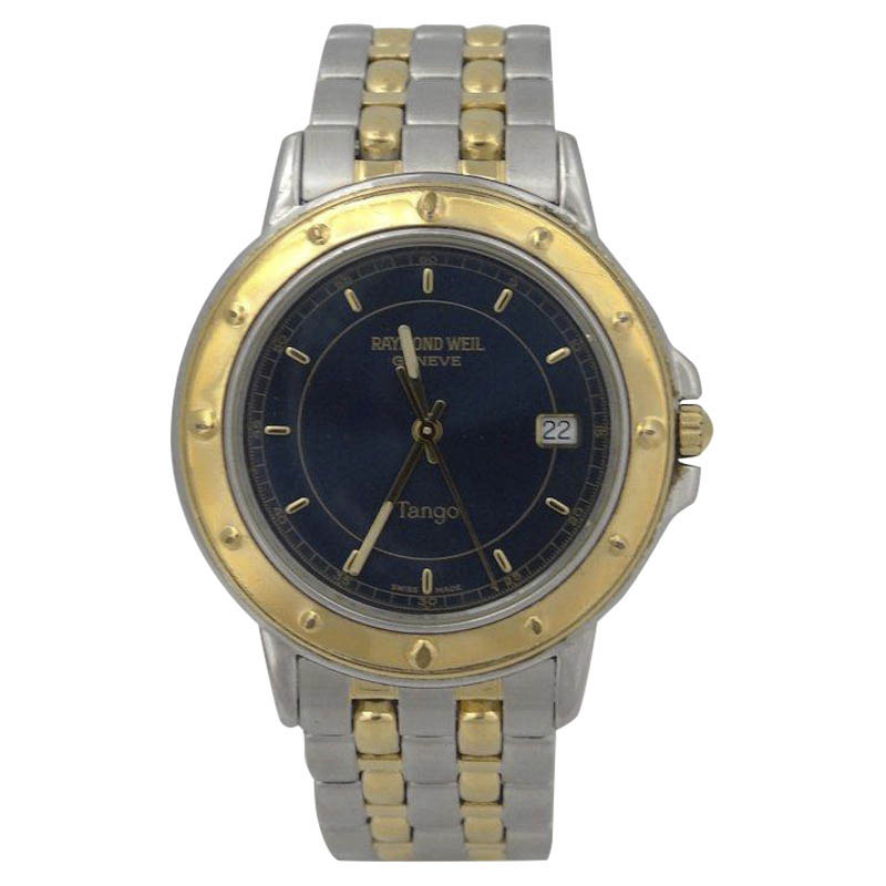 "Image of ""Raymond Weil Geneve Date Tango Stainless Steel Gold Plated Quartz 36mm"""