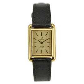 Omega De Ville Gold Plated / Leather 20mm Womens Watch