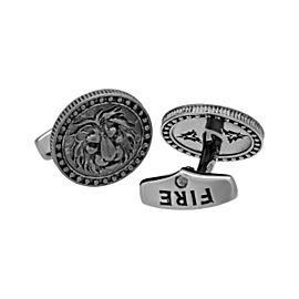 Stephen Webster 925 Sterling Silver Astro Coin Zodiac Leo Cufflinks