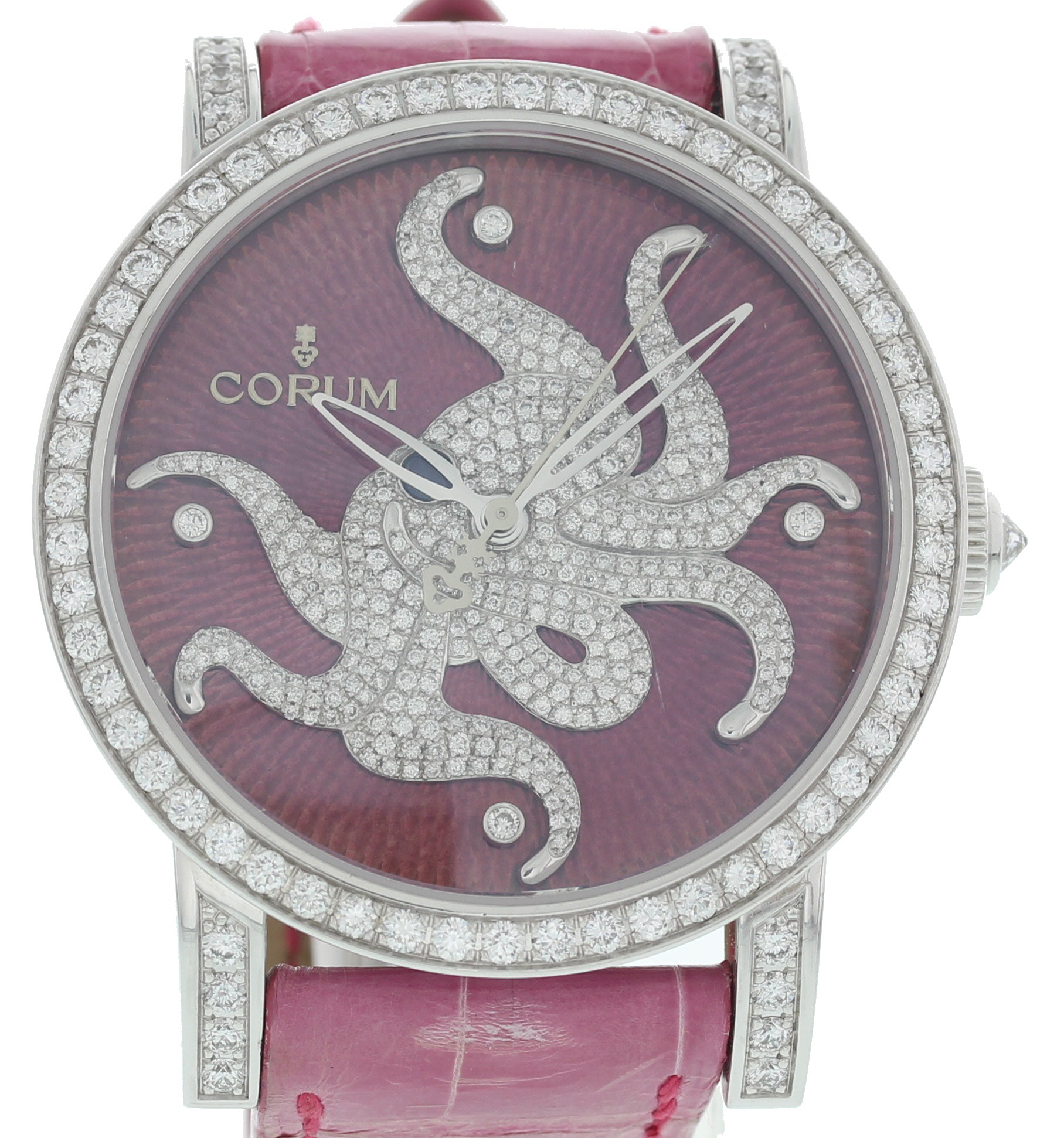 "Image of ""Corum Classical 982.202.69 18K White Gold & Diamonds 42mm Womens Watch"""