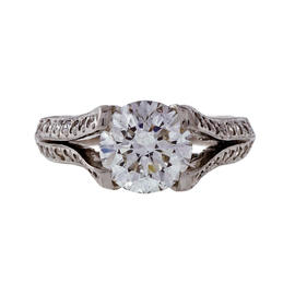 Peter Suchy Platinum 1.60ct Diamond Engagement Ring Size 6.5
