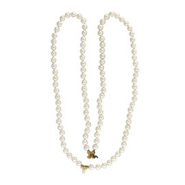 Tiffany & Co. 18K Yellow Gold Strand Cultured Pearl Necklace