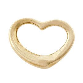 Tiffany & Co. Elsa Peretti 18K Yellow Gold Medium Open Heart Pendant
