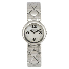 Christian Dior D84-100 Stainless Steel White Dial Quartz 21mm Womens Watch