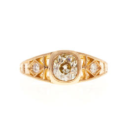 Peter Suchy 18K Pink Gold & 1.00ct Diamond Ring Size 5.5