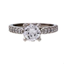 Peter Suchy Platinum Diamond Engagement Ring Size 6.25