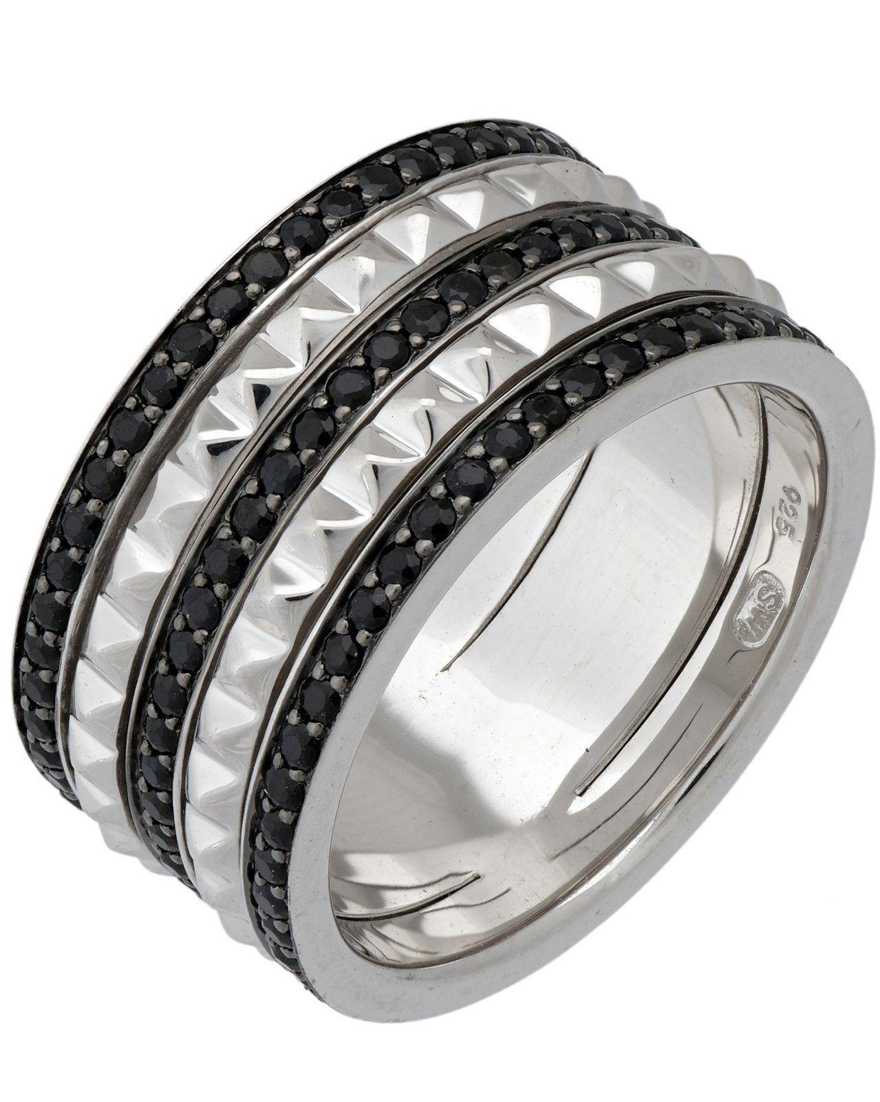 "Image of ""Stephen Webster 925 Sterling Silver Superstud Spinner Ring 3 Rows Of"""