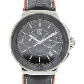 Tag Heuer Formula 1 CAH1210 Stainless Steel & Leather Quartz 41mm Mens Watch