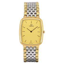 Omega De Ville Stainless Steel & Gold Plated with Gold Dial 26mm Mens Watch