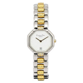 Christian Dior D48-203-1 Stainless Steel & Gold Plated 25mm Womens Watch