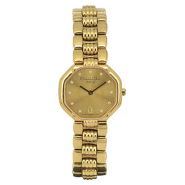 Christian Dior 48.153 Gold Plated 25mm Womens Watch