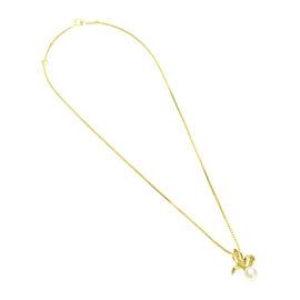 Mikimoto 18K Yellow Gold & Akoya Pearl Pendant Necklace