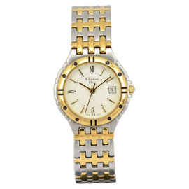 Christian Dior Stainless Steel & Gold Plated with Ivory Dial 26mm Womens Watch