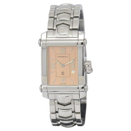 Charriol COLVMBVS 9011910 Stainless Steel with Orange Dial 25mm Mens Watch