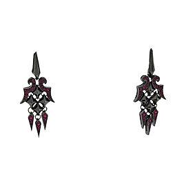 Stephen Webster 925 Sterling Silver Superstud Pave Ruby Dangle Earrings