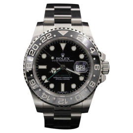 Rolex GMT-Master II 116710LN Stainless Steel Black Dial 40mm Mens Watch