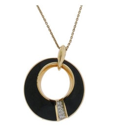 Chimento 18K Pink Gold Desiderio Pave Diamond & Obsidian Necklace
