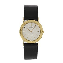 Audemars Piguet Gubelin 16292 18K Yellow Gold & Leather Manual 28mm Unisex Watch