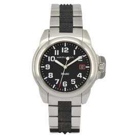 Hamilton Khaki H614110 Stainless Steel / Plastic with Black Dial 40mm Mens Watch