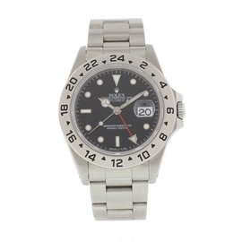 Rolex Explorer II 16570 Stainless Steel Black Dial Automatic 40mm Mens Watch