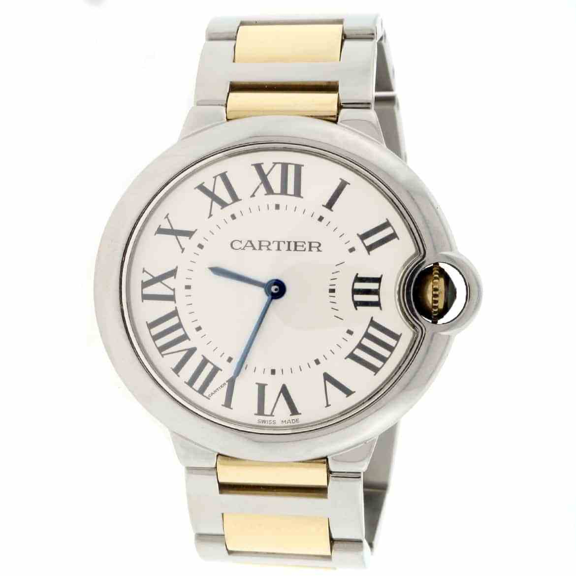 Cartier Ballon Bleu W69008Z3 18K Yellow Gold & Stainless Steel Silver