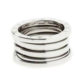 Bulgari B.Zero 1 18K White Gold Band Ring Size 4.25