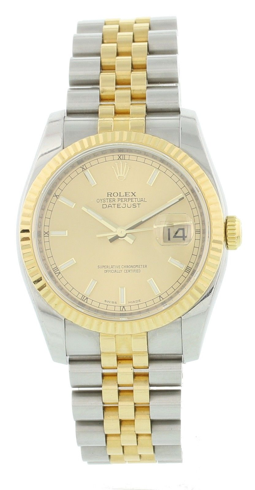 "Image of ""Rolex Datejust 116233 18K Yellow Gold/Stainless Steel Automatic 36mm"""