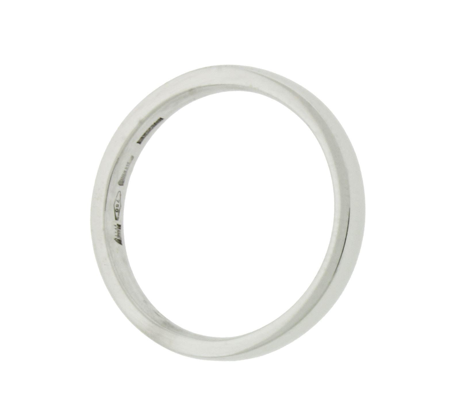 "Image of ""Bulgari 18K White Gold Comfort Band Ring Size 9.5"""