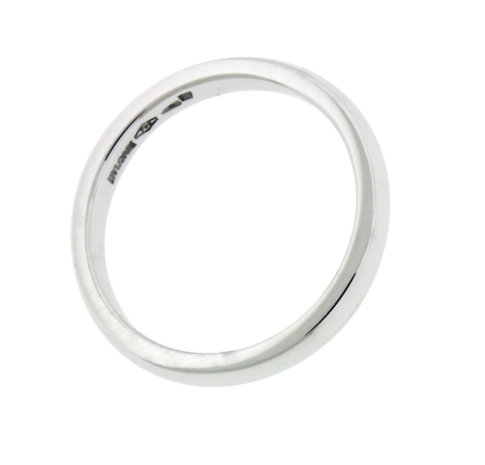 "Image of ""Bulgari 18K White Gold Band Ring Size 7.25"""