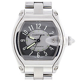 Cartier Roadster W62025V3 Stainless Steel & Gray Dial Automatic 36mm Mens Watch