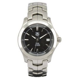 Tag Heuer Link WJF2110 Stainless Steel with Black Dial 38mm Mens Watch