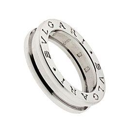 Bulgari B. Zero 18K White Gold Band Ring Size 3.75