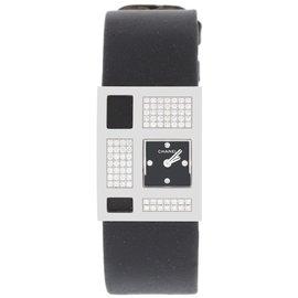 Chanel H1183 18K White Gold & Satin wDiamonds Quartz 22mm Womens Watch