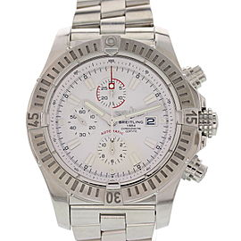 Breitling Super Avenger A13370 Stainless Steel Automatic 48mm Mens Watch