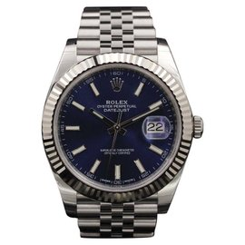Rolex Datejust 126334BLSJ Stainless Steel Blue Index Dial 41mm Mens Watch