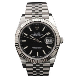 Rolex Datejust 126334 Stainless Steel Black Index Dial 41mm Mens Watch