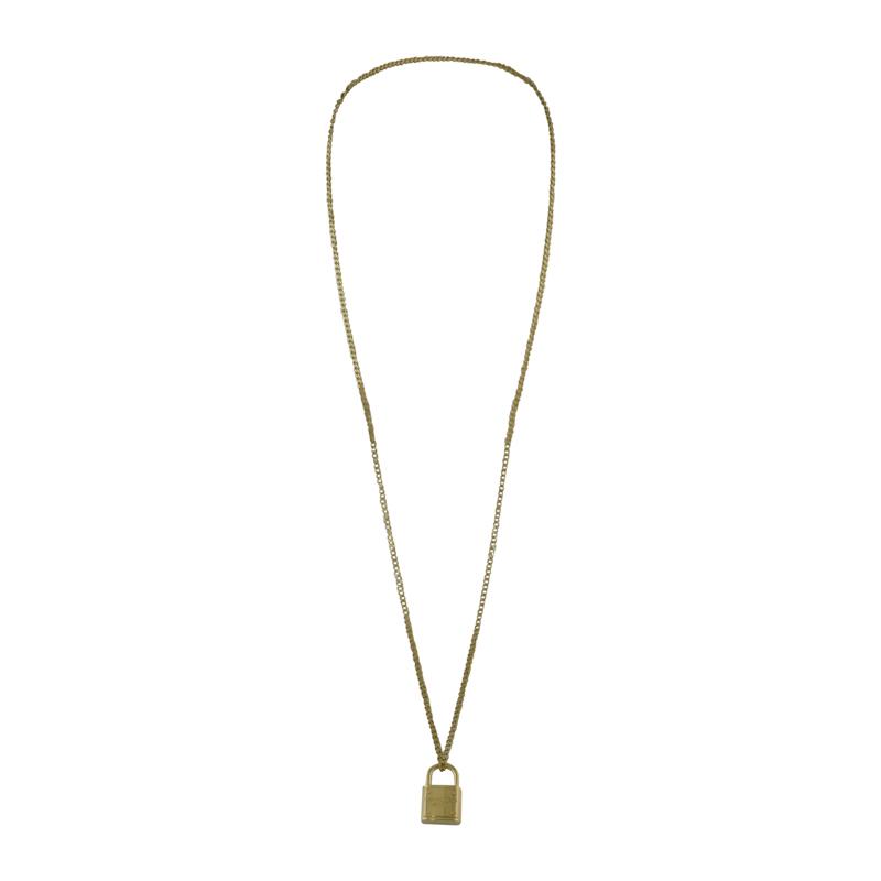 "Image of ""Michael Kors Gold Tone Metal Pendant Necklace"""