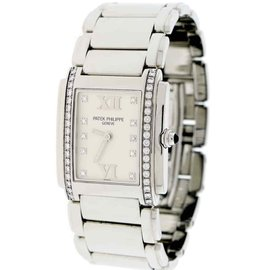 Patek Philippe Twenty-4 4910-10A-011 Stainless Steel Diamond Bezel & Dial 25mm Womens Watch