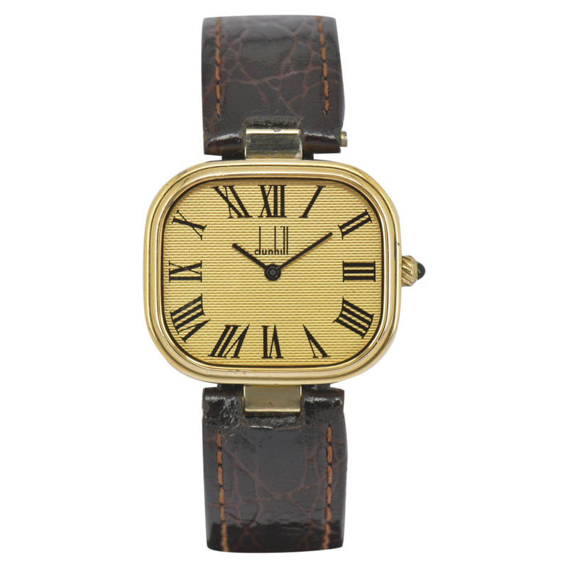 "Image of ""Dunhill Gold Plated / Sterling Silver Gold Dial Quartz 32mm Mens"""