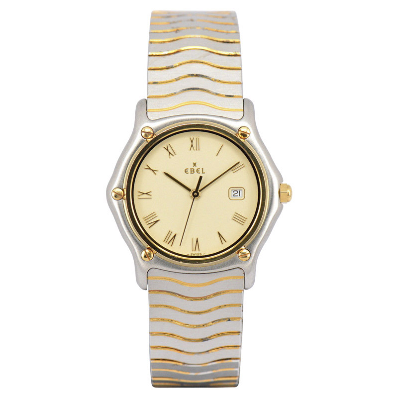 """Image of """"Ebel Sport Classic Wave 18K Yellow Gold / Stainless Steel 32mm Womens"""""""