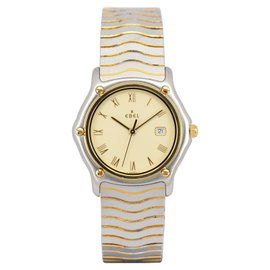 Ebel Sport Classic Wave 18K Yellow Gold / Stainless Steel 32mm Womens Watch
