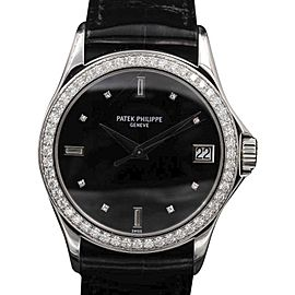 Patek Philippe Calatrava 5108G White Gold Diamond Bezel Dial 37mm Unisex Watch