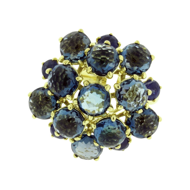 "Image of ""Ippolita 18K Yellow Gold with Blue Sapphire and London Blue Topaz"""