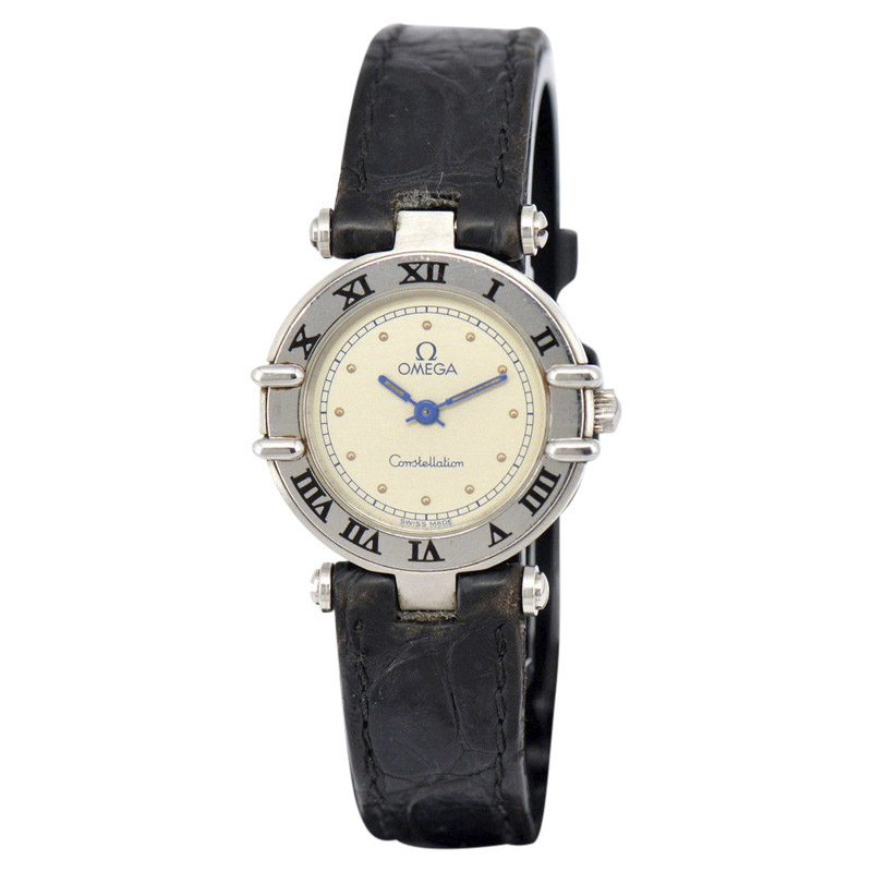 "Image of ""Omega Constellation Stainless Steel / Leather 23.5mm Womens Watch"""
