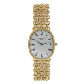 Patek Philippe 18K Yellow Gold Quartz Vintage 27mm Unisex Watch