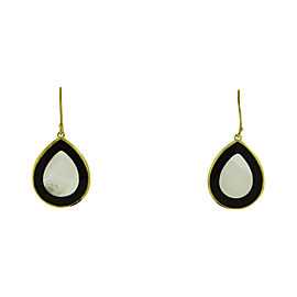 Ippolita 18K Yellow Gold with Onyx & Mother of Pearl Rock Candy Teardrop Earrings