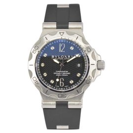 Bulgari Diagono Scuba Aqua DP42SSD Stainless Steel & Rubber 42mm Mens Watch