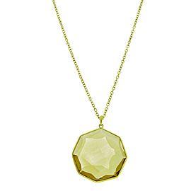 Ippolita Rock Candy 18K Yellow Gold with Orange Citrine Pendant Necklace