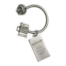 Tiffany & Co. 925 Sterling Silver Globe Passport Key Ring Keychain